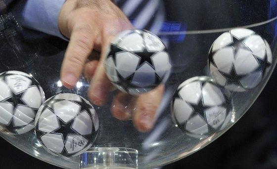 Sorteio da Liga dos Campeões. Foto: Uefa/divulgação
