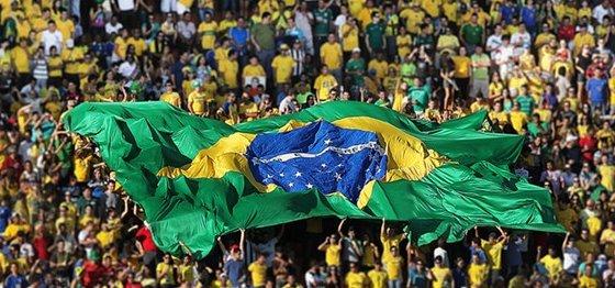 Torcida brasileira. Foto: CBF/divulgação