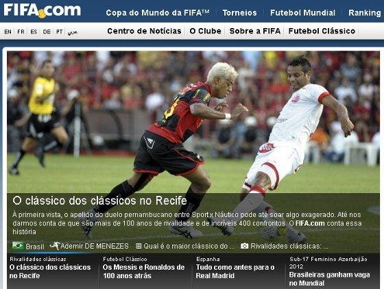 Náutico x Sport, Clássico na Fifa