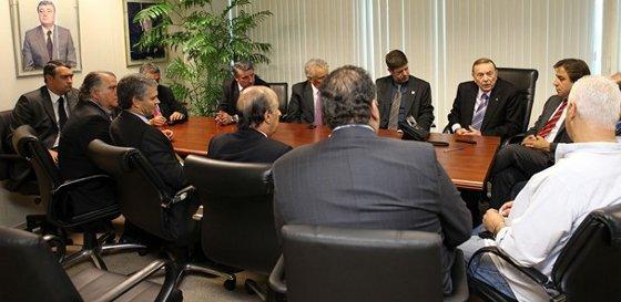 José Maria Marin recebe presidentes de clubes do Rio e de SP. Foto: Ricardo Stuckert /CBF