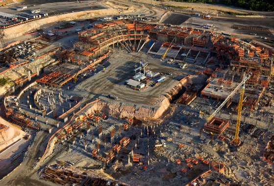 Construção da Arena Pernambuco em março de 2012. Foto: Eduardo Martino/divulgação