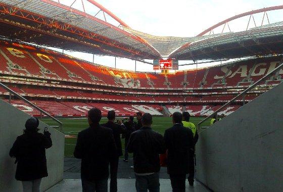 Polícia Militar de Pernambuco no Estádio da Luz. Crédito: PM/divulgação