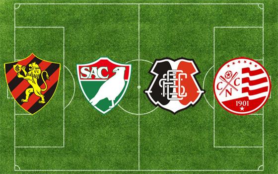 Semifinalistas do Campeonato Pernambucano de 2012: Sport, Salgueiro, Santa Cruz e Náutico