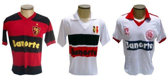 Camisa retrô de Santa Cruz, Sport e Náutico