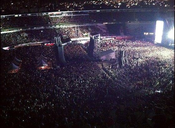 Estádio do Arruda tomado por 50 mil pessoas para o show de Paul McCartney. Foto: Terror do Nordeste