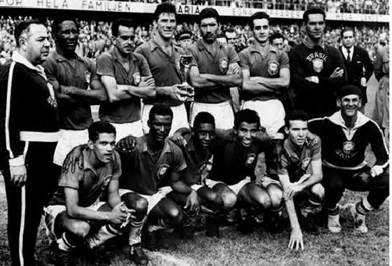 Copa do Mundo 1958, final: Brasil 5 x 2 Suécia. Foto: Fifa/divulgação