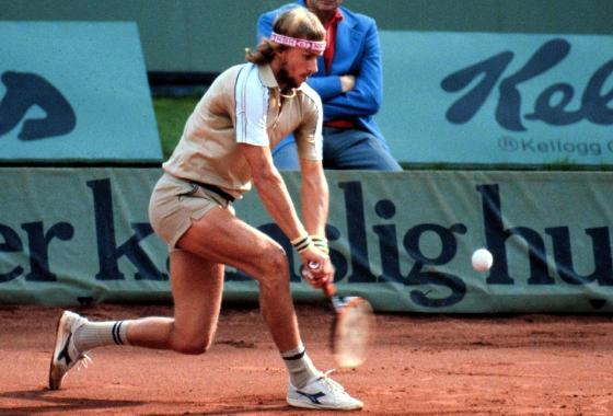 Bjorn Borg em Roland Garros. Foto: Diadora