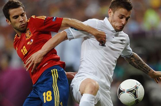 Eurocopa 2012, quartas de final: Espanha x França. Foto: Uefa/divulgação