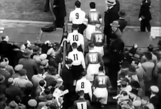 Copa da Inglaterra 1933, final: Everton 3x0 Manchester City. Crédito: Youtube