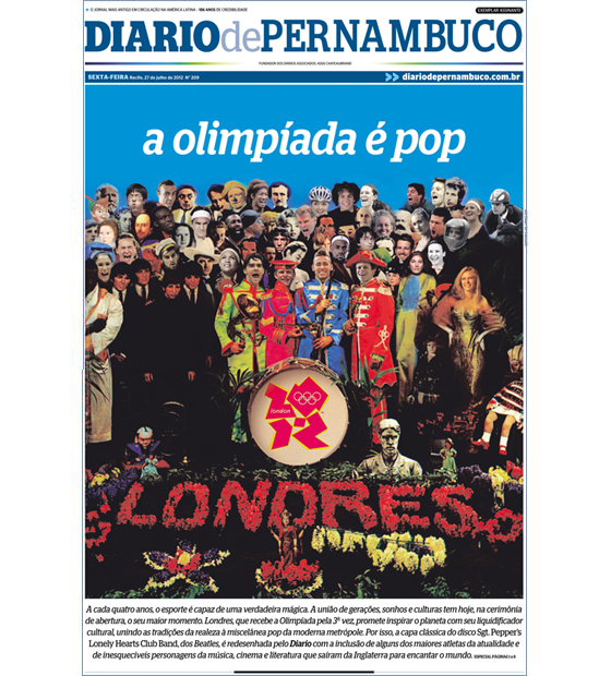 Capa do Diario de Pernambuco: 27/07/2012