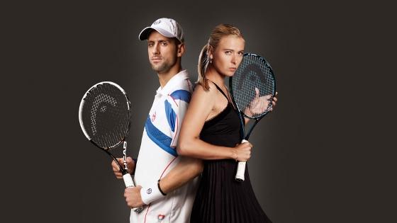 Novak Djokovic e Maria Sharapova. Foto: Head/divulgação