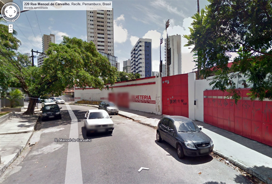 Estádio do Aflitos no Google Street View