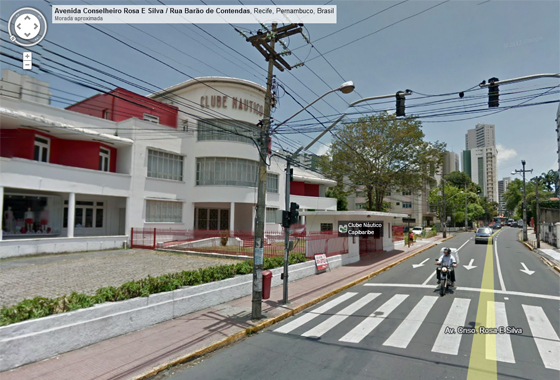Sede do Náutico no Google Street View