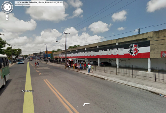 Sede do Santa Cruz no Google Street View