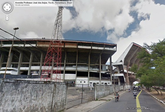 Estádio do Arruda no Google Street View