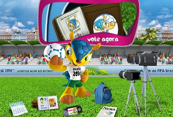 f9f6e55a2d Mascote da Copa do Mundo de 2014 no Recife. Crédito  site da Fifa