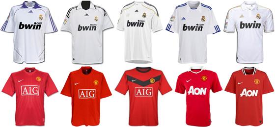 Uniformes de Real Madri e Manchester United de 2007 2008 a 2011 2012 054b06151e43d