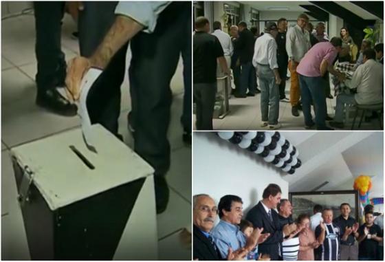 Eleição do Central no Lacerdão. Imagens: TV Asa Branca/reprodução