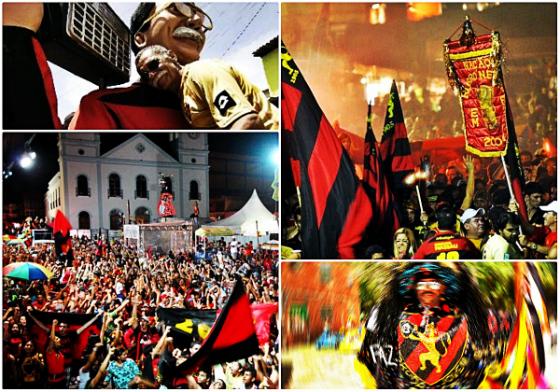 Carnaval do Sport. Fotos: sobreascidades.wordpress.com, Diario de Pernambuco  e Cláudio Maranhão/flickr