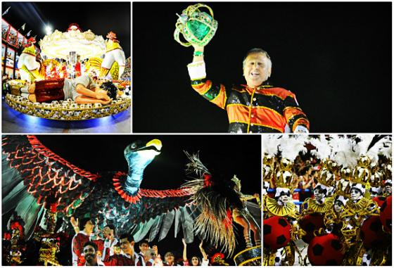 Desfile da escola de samba Imperatriz Leopoldinense no carnaval carioca 2014. Fotos: g1.globo.com