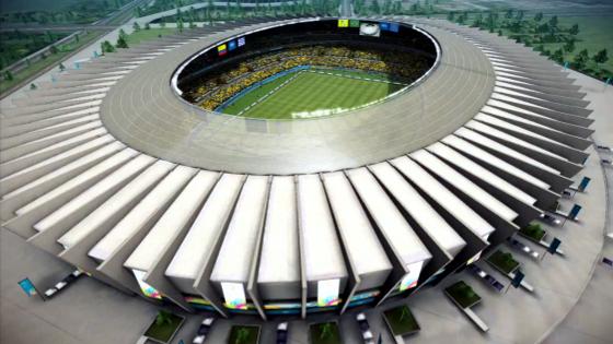 Mineirão. Foto: Crédito: game Fifa World Cup 2014/EA Sports