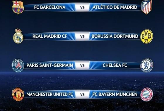 Quartas de final da Liga dos Campeões da Uefa 2013/2014. Crédito: Uefa/divulgação