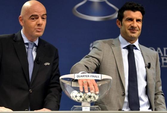 Sorteio das quartas de final da Liga dos Campeões da Uefa 2013/2014. Crédito: Uefa/divulgação