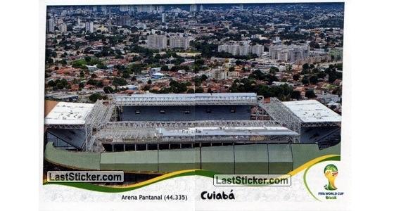 Figurinhas do álbum oficial da Copa do Mundo de 2014 (Arena Pantanal). Crédito: laststicker.com/montagem (Cassio Zirpoli)
