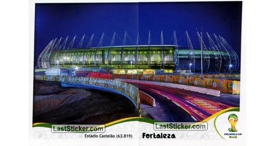 Figurinhas do álbum oficial da Copa do Mundo de 2014 (Castelão). Crédito: laststicker.com/montagem (Cassio Zirpoli)