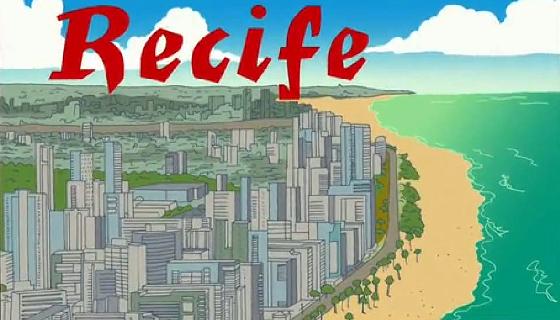 O Recife no episódio do desenho animado Os Simpsons, em 2014. Crédito: reprodução
