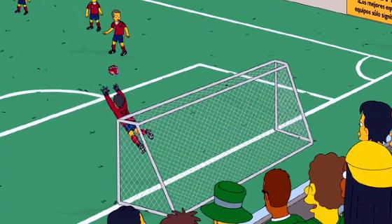 A Arena Pernambuco no episódio do desenho animado Os Simpsons, em 2014. Crédito: reprodução