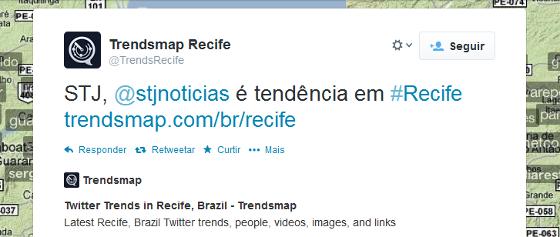 Brasileiro de 1987 comentando no twitter, pelos recifenses