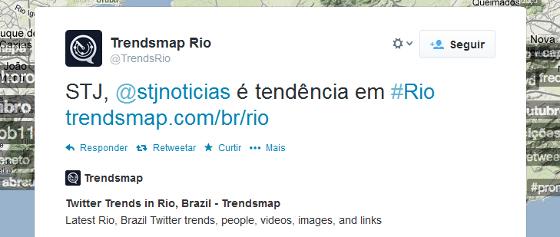 Brasileiro de 1987 comentando no twitter, pelos cariocas