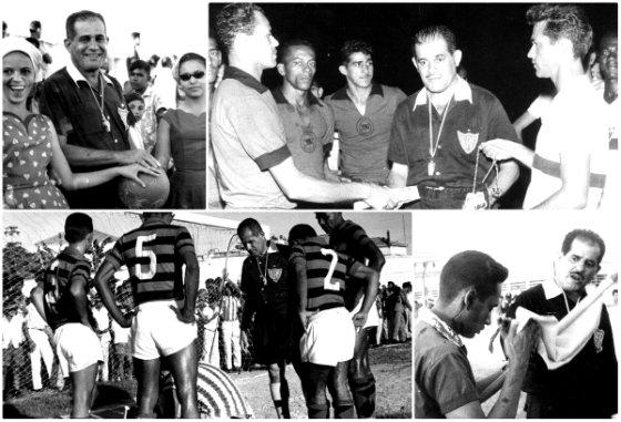 Argemiro Félix, o Sherlock, árbitro do futebol pernambucano nas décadas de 1940, 1950 e 1960. Fotos: Arquivo/DP/D.A Press