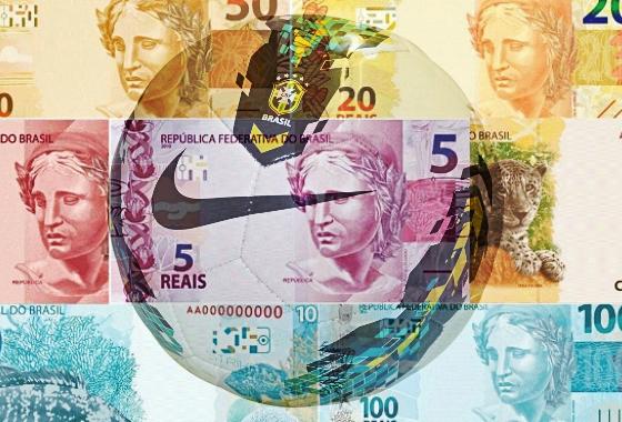 Dinheiro no futebol. Arte: Cassio Zirpoli/DP/D.A Press
