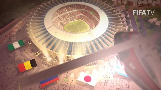 Mineirão (Belo Horizonte) na abertura oficial da Copa do Mundo de 2014. Crédito: Fifa/youtube