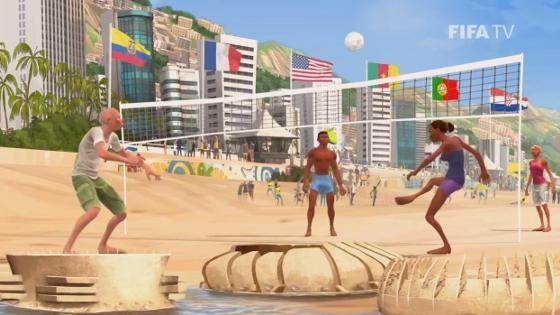 Arena Pernambuco (Recife), Arena das Dunas (Natal) e Castelão (Fortaleza) na abertura oficial da Copa do Mundo de 2014. Crédito: Fifa/youtube