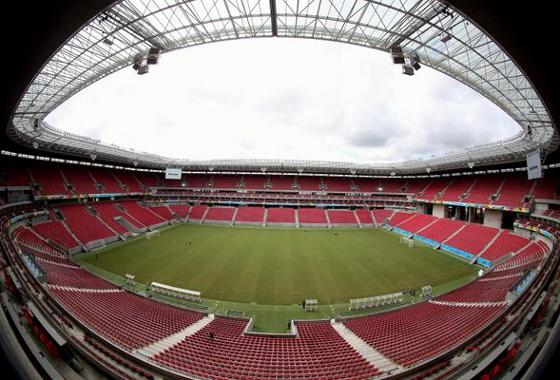 Arena Pernambuco na Copa das Confederações de 2013. Foto: Fifa/site oficial