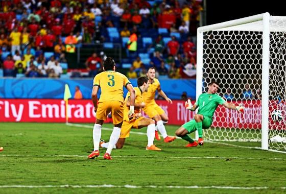 Copa do Mudo de 2014, fase de grupos: Chile x Austrália. Foto: Clive Mason/Getty Images/Fifa)