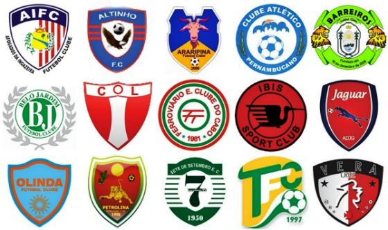 Clubes do Pernambucano Sub 23 de 2014 (segunda divisão). Crédito: Cassio Zirpoli