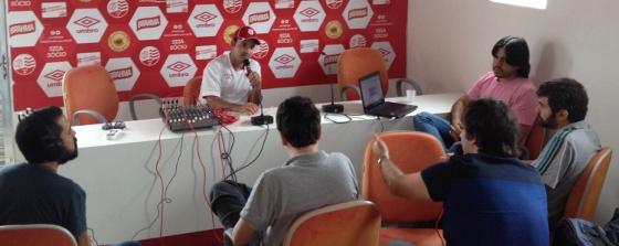 Gravação do podcast com o técnico do Náutico, Sidney Moraes, em 22 de julho e 2014