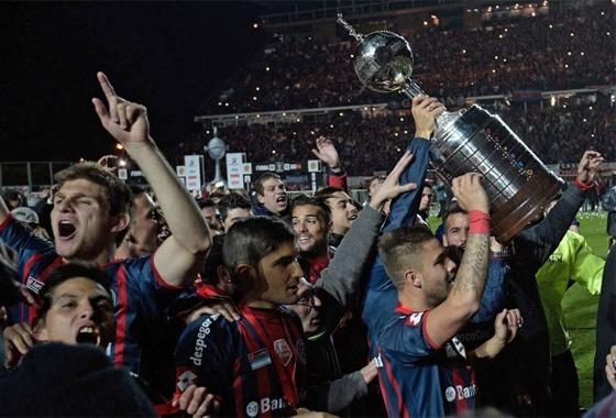 Final da Libertadores de 2014: San Lorenzo (Argentina) 1x0 Nacional (Paraguai). Crédito: Conmebol/site oficial