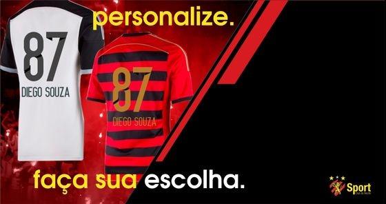 Camisa de Diego Souza no Sport em 2014. Crédito: divulgação