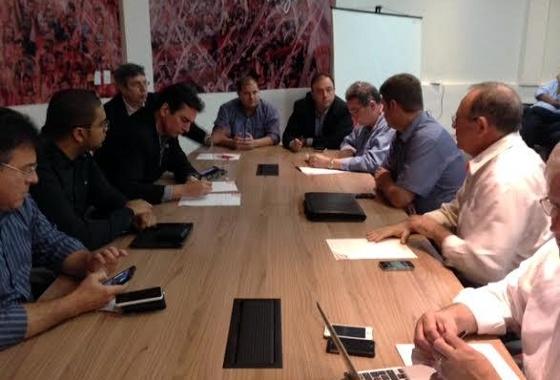 Reunião do CT Wilson Campos, organizada pelo Náutico, sobre o aumento de cotas no Brasileiro. Foto: NJosé Gomes Neto/Náutico/Assessoria