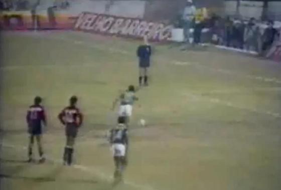 Libertadores de 1988, 1ª fase: Guarani 4x1 Sport. Crédito: Rede Globo/reprodução