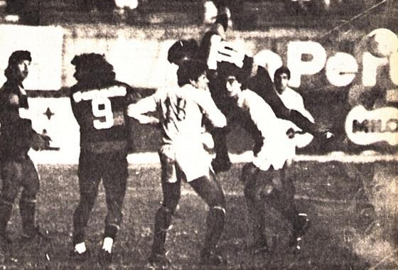 Libertadores de 1988, 1ª fase: Universitario (PER) 1x0 Sport. Foto: Edvaldo Rodrigues/DP/D.A Press