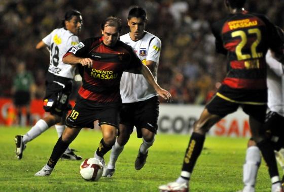 Libertadores de 2009, fase de grupos: Sport 2x1 Colo Colo (CHI). Foto: Heitor Cunha/DP/D.A Press