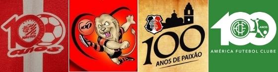 Marcas especiais do centenário de Náutico, Sport, Santa Cruz e América