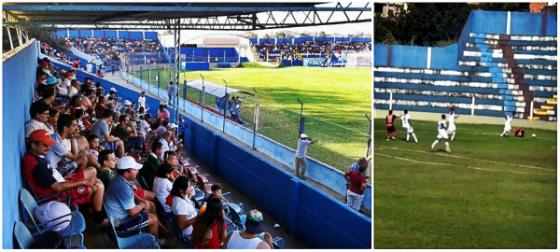 Vera Cruz no Carneirão em 2014. Fotos: Vera Cruz/facebook e youtube/panorama esporte