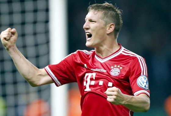 Schweinsteiger no Bayern de Munique. Foto: Bayern de Munique